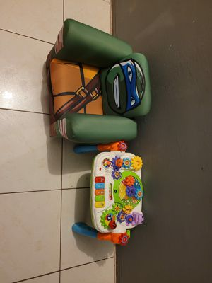 NINJA TURTLE SOFA AND A ACTIVITY TABLE for Sale in Miami, FL