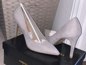 Grey heels for Sale in Houston, TX