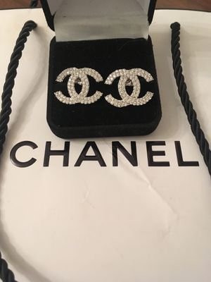 Coco channel couture cc diamond Xl celebrity earrings for Sale in Orlando, FL