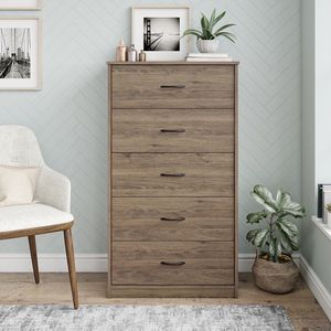 Classic 5 Drawer Dresser, Rustic Oak Finish for Sale in Raleigh, NC