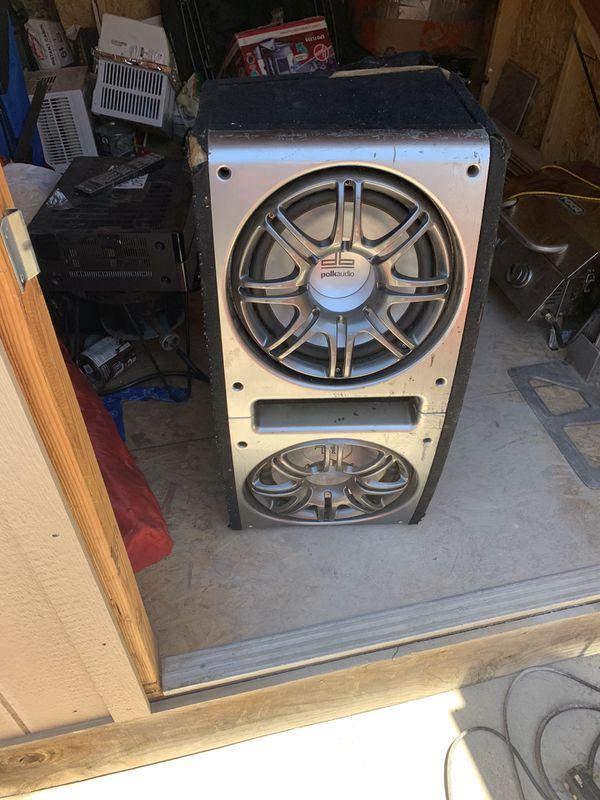 Polk audio speakers and crunch amp