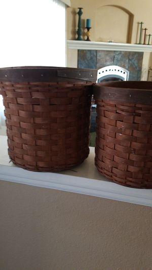 Longaberger basket set for Sale in Hesperia, CA