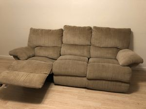 Tan Corduroy Sectional Couch for Sale in Evergreen, CO