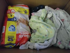 Large box of newborn girls clothes for Sale in Bow, WA