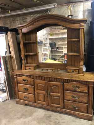 Large dresser with mirror for Sale in Mishawaka, IN