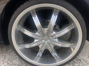 DZ 22 inch wheels and tires for Sale in Knoxville, TN