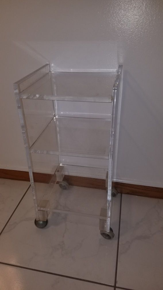 Small acrylic shelf