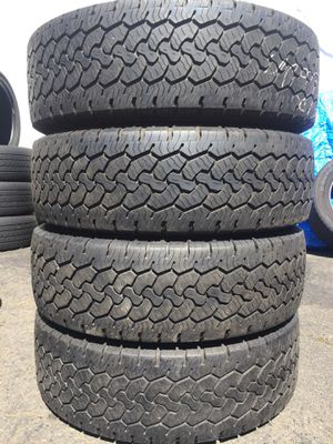 LT 245/75/17 BGGoodrich set of used tires in great condition 70% tread 225$ for 4 . Installation balance and alignment available. Road force balance for Sale in Union, NJ
