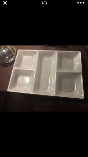 15 1/2 x 10 1/2 vintage frosted glass dish tray for serving? Organizing? Displays? Price is for two! for Sale in Portland, OR