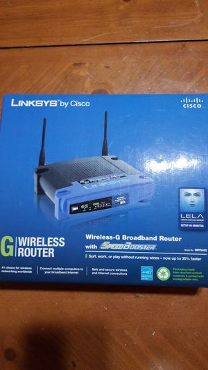 Linksys by Cisco Wireless G Router for Sale in Pembroke Pines, FL