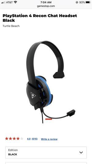 Turtle Beach headset PS4 for Sale in Laguna Hills, CA