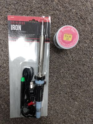 Soldering iron and brand new spool of solder for Sale in Austin, TX