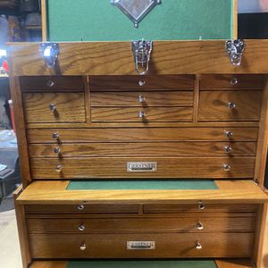 Gernsterner & Sons International Top And Middle Oak Toolbox With Keys for Sale in Cape Coral, FL