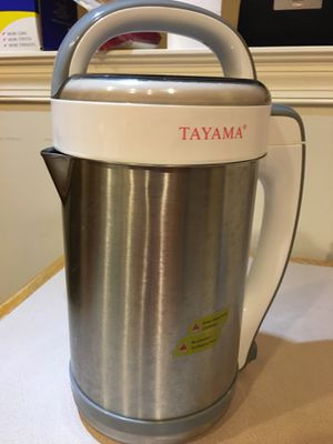 Tayama Stainless Steel Soymilk Maker - barely used for Sale in Hummelstown, PA