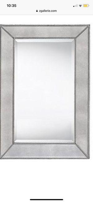 Z Gallerie Silver Heavy Duty Mirror for Sale in Queens, NY