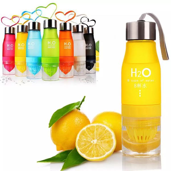 H20 plastic Fruit infusion bottle Infuser Drink Outdoor Sports Juice lemon Portable Water