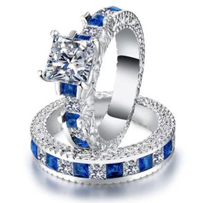 Blue stone and silver color rings women for Sale in Hanover Park, IL