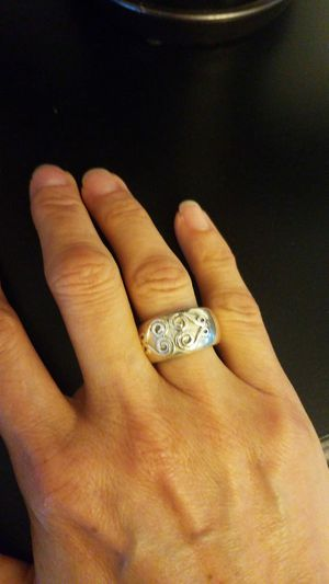 925 silver S. Solid heavy Ring witn desings for Sale in Sunrise, FL