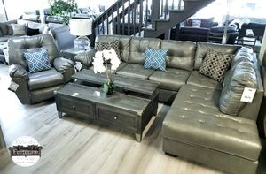 $799 FREE DELIVERY !! BRAND NEW GREY ASHLEY SECTIONAL SOFA for Sale in Oviedo, FL
