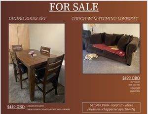 COUCH AND/OR DINING ROOM TABLE for Sale in Palmdale, CA