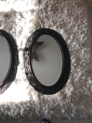 2 Beveled oval glass mirror set for Sale in Deltona, FL