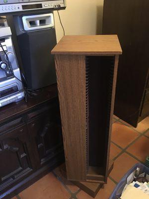 Wooden turn table CD holder. $25 or best offer for Sale in Phoenix, AZ