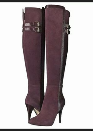 Michael Kors Delaney Over The Knee Plum Boots.New in Box Size 8 for Sale in City of Industry, CA