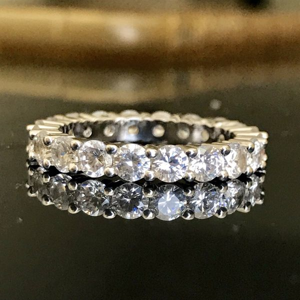 Wedding engagement silver claw ring band women's jewelry accessory fashion ring