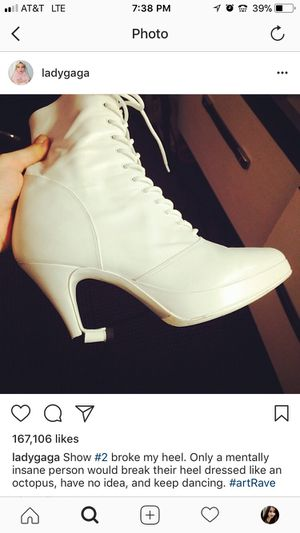 Lady Gaga heels from concert for Sale in Pittsburgh, PA