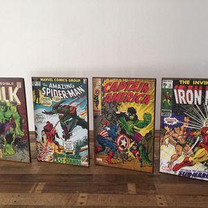 MARVEL Superhero Wall Plaques HULK, Spiderman, Captain America, Iron Man for Sale in Anaheim, CA