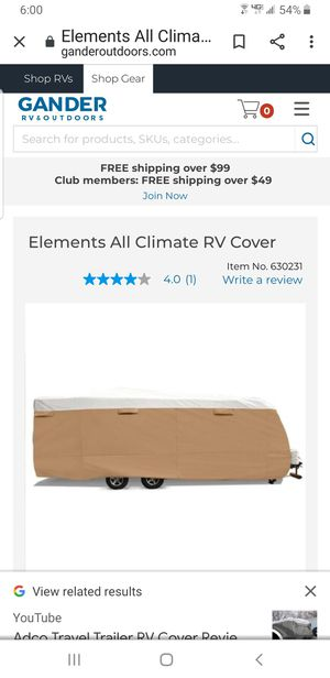 Elements travel trailer cover for Sale in Hanson, MA