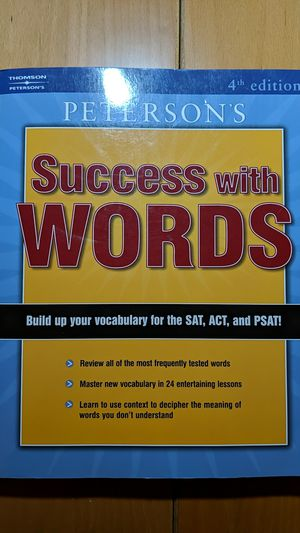 Peterson's Success with Words SAT, ACT Prep. for Sale in Hacienda Heights, CA