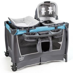 BabyJoy 4-in-1 Convertible Portable Baby Playard Newborn Napper w/ Toys & Music Bluebb0499bl for Sale in Irvine, CA