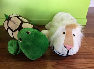2 Stuffies Brand Stuffed animals Lion and Turtle for Sale in Las Vegas, NV