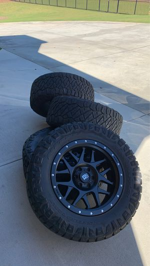 XD series matte black Ford F-150 rims and tires for Sale in Suwanee, GA