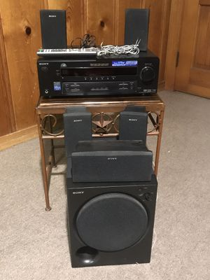 Home theater System Sony STR K 750 P FM/ AM stereo Audio/Video Receiver with Surround with control remote and 5 Speakers for Sale in Forest Hill, TX