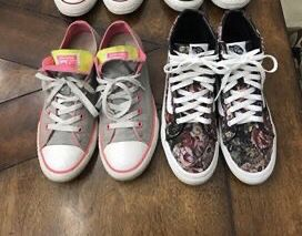 Beautiful vans/converse shoes . Like good condition..Converse are size 7w/vans size 7.5. for Sale in Sandston, VA