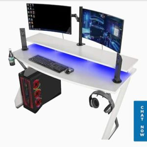 Xtreme Gaming Desk With Riser White Intense for Sale in Charlotte, NC