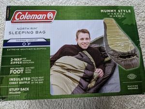 Coleman North Rim mummy-style sleeping bag- BRAND NEW for Sale in Elgin, IL