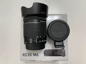 Brand New Canon EOS M6 24.2MP Digital Camera (Black Body) Combo With Canon Lens Plus Canon Adapter for Sale in Queens, NY