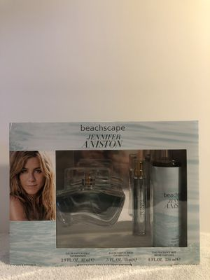 Jennifer Aniston Beachscape Perfume Set EDP 2.9 oz 0.5 oz Fragrance Mist 8.0 oz. for Sale in Las Vegas, NV