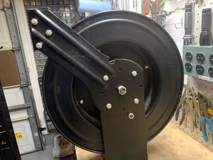 Air hose reel holds 50 feet of 1/2 inch hose for Sale in Spokane, WA