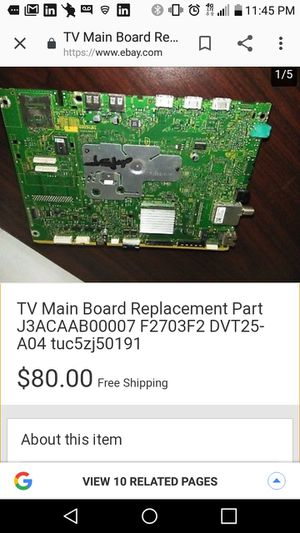 Main Board (PC) for Panasonic TC55LE54 LCD TV for Sale in Puyallup, WA