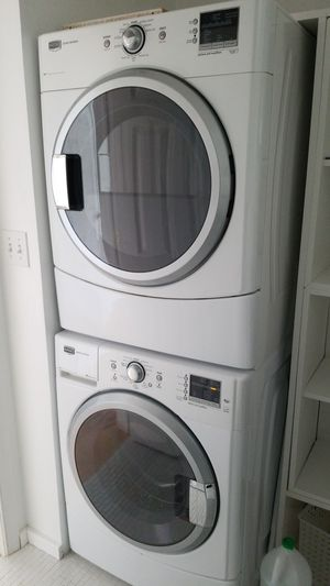 Maytag front load washer & GAS dryer white NICE for Sale in Bethesda, MD