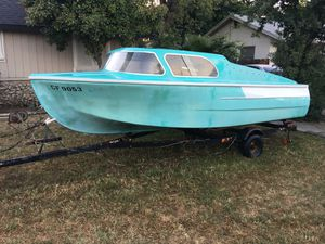 1959 Dorcette Cabin cruiser & trailer / no motor ! for Sale in Visalia, CA
