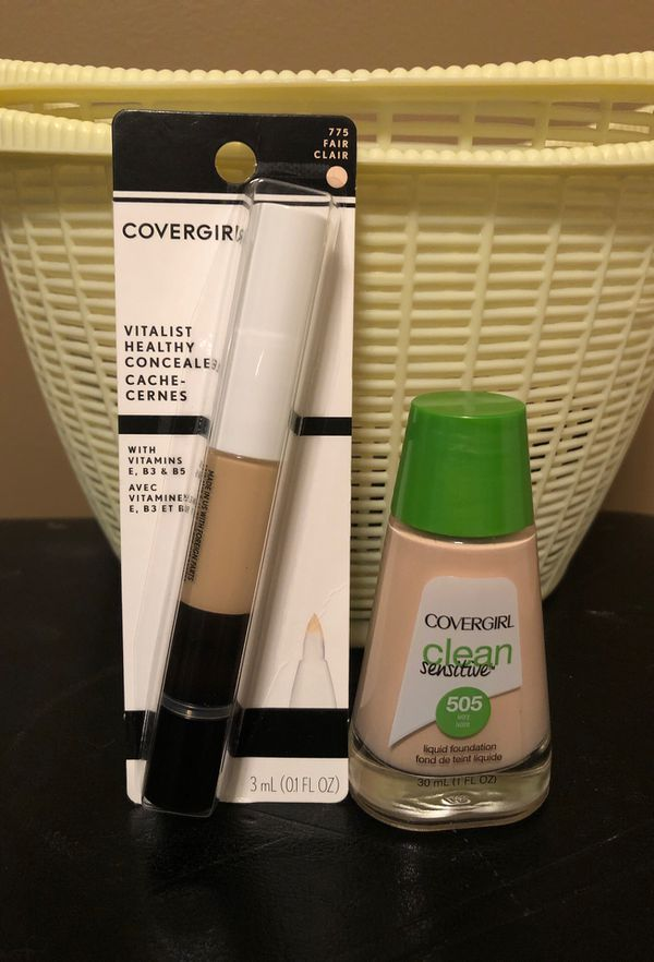 Covergirl ivory foundation and fair concealer