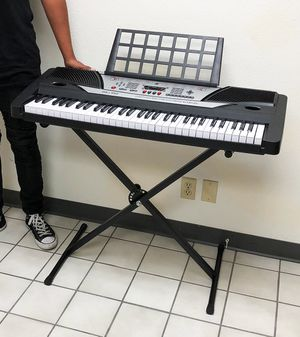 New $75 Music Electric Keyboard Digital Piano Beginner Organ w/ Stand Talent Gift 61 Key for Sale in El Monte, CA