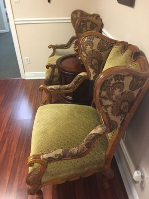 reduced !!! Set of two armchairs, office wing captain chairs , like new $225 for Sale in West Palm Beach, FL