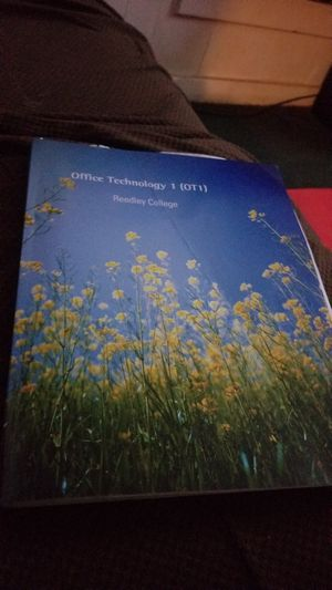 OFFICE technology 1 textbook...Reedley community college for Sale in Sanger, CA