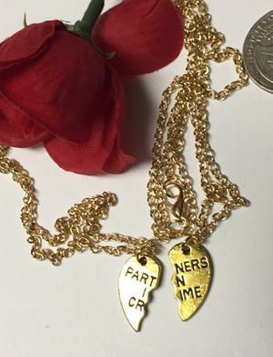 Partner in crime pair necklace. Set of two. for Sale in Denver, CO